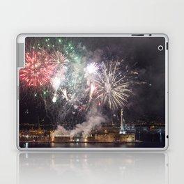 Fireworks on the sea Laptop & iPad Skin