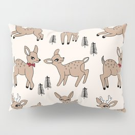 Reindeer vintage style cute rudolph the red nosed reindeer pattern Pillow Sham