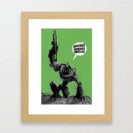 Angry Robot Framed Art Print