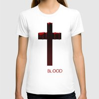 true blood T-shirts featuring True Blood Revese (THE CROSS) by Brandon sawyer