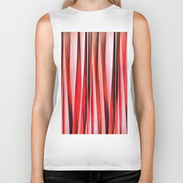 Red Adventure Striped Abstract Pattern Biker Tank