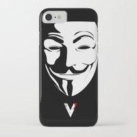 vendetta iPhone & iPod Cases featuring Vendetta by The Vector Studio