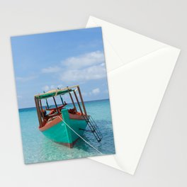 Tropical Island Boat Ride Stationery Cards