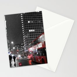 Snow in London Stationery Cards