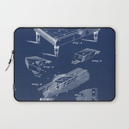 Billiard Table Chuck Vintage Patent Hand Drawing Laptop Sleeve