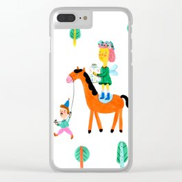 Colorful Cheerful Forest Clear iPhone Case