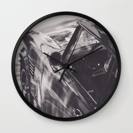 Triumph spitfire, black & white photography, Peter Lindbergh style, english sports car Wall Clock