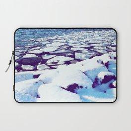 Snowy Waterfront Laptop Sleeve