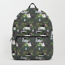 cats in the interior dark pattern Backpack