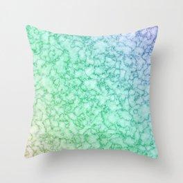 Green Sea Marble Stone  Throw Pillow