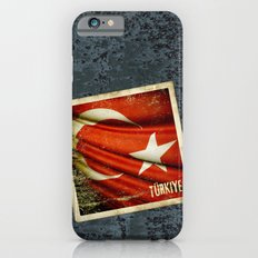 Grunge sticker of Turkey flag iPhone 6s Slim Case