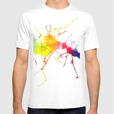 passion  White Mens Fitted Tee MEDIUM