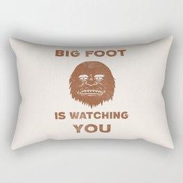Big Foot Is Watching You Rectangular Pillow