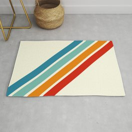 Alator - Classic 70s Retro Summer Stripes Rug