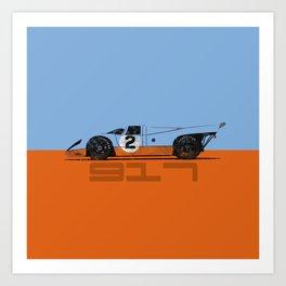 Vintage Le Mans race car livery design - 917 Art Print