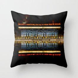 Temple reflection Throw Pillow