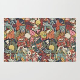 Night parade Rug