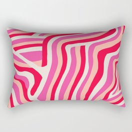 pink zebra stripes Rectangular Pillow