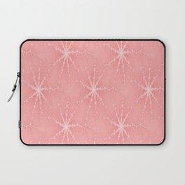 Pink Winter Snowflakes Laptop Sleeve