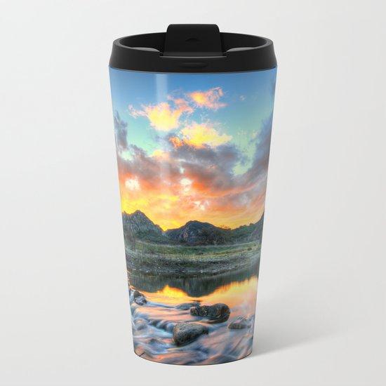 Sunset Landscape #river Metal Travel Mug