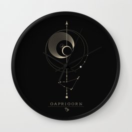 Capricorn Zodiac Constellation Wall Clock