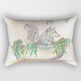Long baths Rectangular Pillow