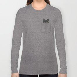 Pocket Black Cat Long Sleeve T-shirt