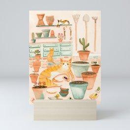 Cats' Potting Room Mini Art Print