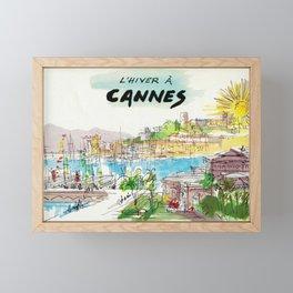 Winter In Cannes Framed Mini Art Print
