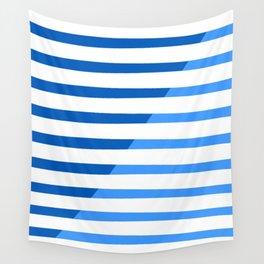 Beach Stripes Blue Wall Tapestry