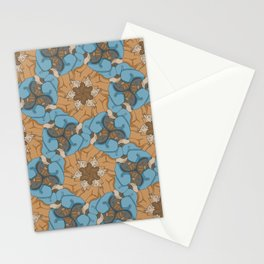 Reclining Dudes Tessellation Stationery Cards