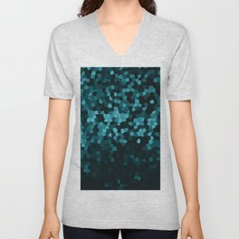 Marble Geometric Dark Blue Design Pattern Abstract  Unisex V-Neck