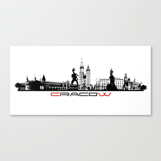 Cracow skyline black by jbjart