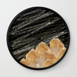 Mountains of citrine Wall Clock