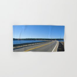 Scituate Reservoir, Rhode Island Ashland Causeway Photograph #6 by Jeanpaul Ferro Hand & Bath Towel
