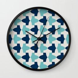 Alhambra Motif Blue Palette Wall Clock