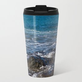 rock in the waves Travel Mug