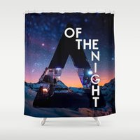 bastille Shower Curtains featuring Bastille - Of The Night by Thafrayer