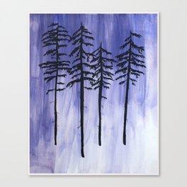 Lavender Pine Trees Canvas Print