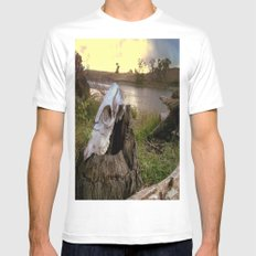 Trail Marker White Mens Fitted Tee MEDIUM