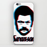 swanson iPhone & iPod Skins featuring Swanson by ThePencilClub