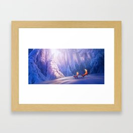 Fox play Framed Art Print