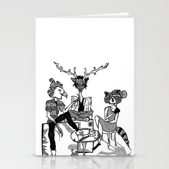 FOREST FOLK Stationery Cards
