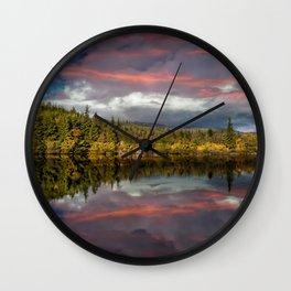 Lake Bodgynydd Sunset Wall Clock