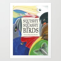 Squishy Squashy Birds Art Print