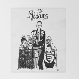 Addams Family Throw Blanket