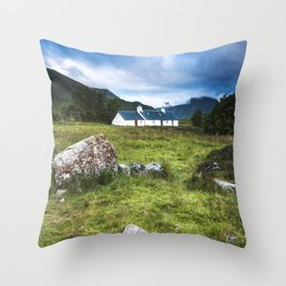 Cottage in Glencoe Throw Pillow