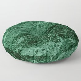 Dark emerald marble texture Floor Pillow