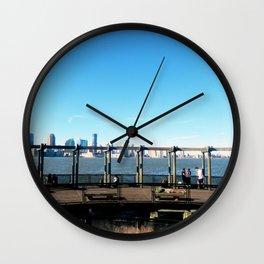Piers | Hudson River | NYC Wall Clock