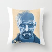 heisenberg Throw Pillows featuring Heisenberg by James Northcote